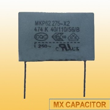 Capacitive divider A.C. film capacitor